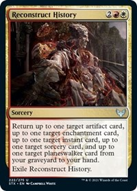 Reconstruct History, Magic: The Gathering, Strixhaven: School of Mages