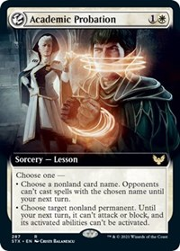 Academic Probation (Extended Art), Magic: The Gathering, Strixhaven: School of Mages