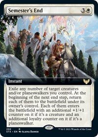 Semester's End (Extended Art), Magic: The Gathering, Strixhaven: School of Mages