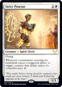 Strict Proctor, Magic: The Gathering, Strixhaven: School of Mages