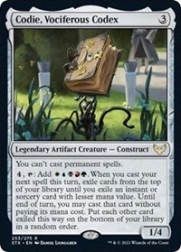 Codie, Vociferous Codex, Magic: The Gathering, Strixhaven: School of Mages