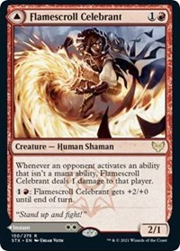 Flamescroll Celebrant, Magic: The Gathering, Strixhaven: School of Mages