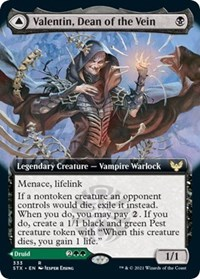 Valentin, Dean of the Vein (Extended Art), Magic: The Gathering, Strixhaven: School of Mages
