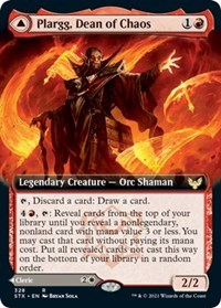 Plargg, Dean of Chaos (Extended Art), Magic: The Gathering, Strixhaven: School of Mages