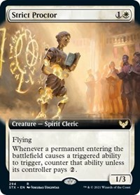 Strict Proctor (Extended Art), Magic: The Gathering, Strixhaven: School of Mages
