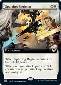 Sparring Regimen (Extended Art), Magic: The Gathering, Strixhaven: School of Mages