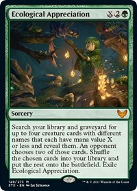 Ecological Appreciation, Magic: The Gathering, Strixhaven: School of Mages