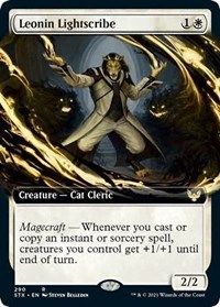 Leonin Lightscribe (Extended Art), Magic: The Gathering, Strixhaven: School of Mages