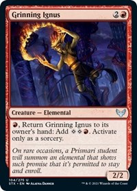 Grinning Ignus, Magic: The Gathering, Strixhaven: School of Mages