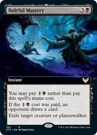 Baleful Mastery (Extended Art), Magic: The Gathering, Strixhaven: School of Mages