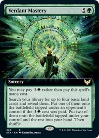 Verdant Mastery (Extended Art), Magic: The Gathering, Strixhaven: School of Mages