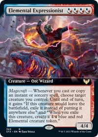 Elemental Expressionist (Extended Art), Magic: The Gathering, Strixhaven: School of Mages