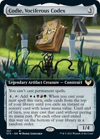 Codie, Vociferous Codex (Extended Art), Magic: The Gathering, Strixhaven: School of Mages