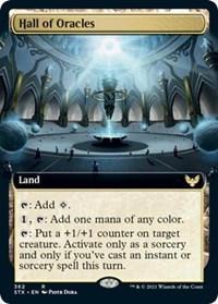 Hall of Oracles (Extended Art), Magic: The Gathering, Strixhaven: School of Mages