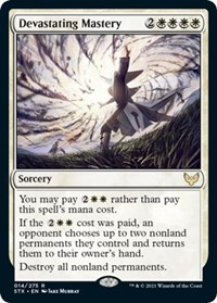 Devastating Mastery, Magic: The Gathering, Strixhaven: School of Mages