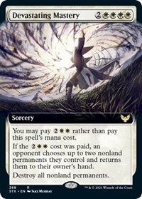 Devastating Mastery (Extended Art), Magic: The Gathering, Strixhaven: School of Mages
