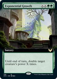 Exponential Growth (Extended Art), Magic: The Gathering, Strixhaven: School of Mages