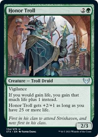 Honor Troll, Magic: The Gathering, Strixhaven: School of Mages