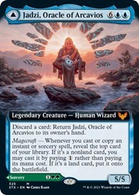 Jadzi, Oracle of Arcavios (Extended Art), Magic: The Gathering, Strixhaven: School of Mages