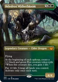 Beledros Witherbloom (Borderless), Magic: The Gathering, Strixhaven: School of Mages