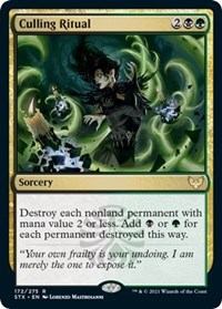 Culling Ritual, Magic: The Gathering, Strixhaven: School of Mages