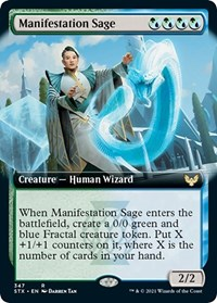 Manifestation Sage (Extended Art), Magic: The Gathering, Strixhaven: School of Mages