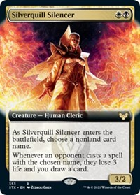 Silverquill Silencer (Extended Art), Magic: The Gathering, Strixhaven: School of Mages