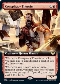 Conspiracy Theorist (Extended Art), Magic: The Gathering, Strixhaven: School of Mages