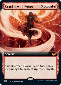 Crackle with Power (Extended Art), Magic: The Gathering, Strixhaven: School of Mages