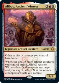 Alibou, Ancient Witness, Magic: The Gathering, Commander 2021