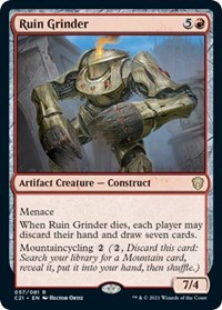 Ruin Grinder, Magic: The Gathering, Commander 2021