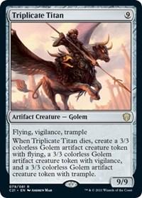 Triplicate Titan, Magic: The Gathering, Commander 2021