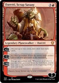 Daretti, Scrap Savant, Magic: The Gathering, Commander 2021