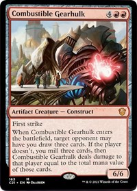 Combustible Gearhulk, Magic: The Gathering, Commander 2021