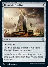 Unstable Obelisk, Magic: The Gathering, Commander 2021