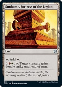 Sunhome, Fortress of the Legion, Magic: The Gathering, Commander 2021