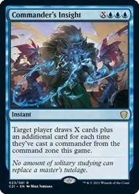 Commander's Insight, Magic: The Gathering, Commander 2021