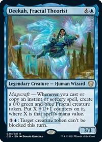 Deekah, Fractal Theorist, Magic: The Gathering, Commander 2021