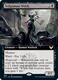 Sedgemoor Witch (Extended Art), Magic: The Gathering, Strixhaven: School of Mages