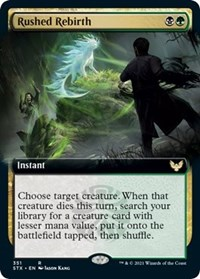 Rushed Rebirth (Extended Art), Magic: The Gathering, Strixhaven: School of Mages
