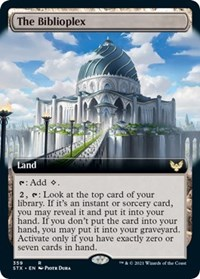 The Biblioplex (Extended Art), Magic: The Gathering, Strixhaven: School of Mages