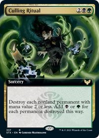 Culling Ritual (Extended Art), Magic: The Gathering, Strixhaven: School of Mages