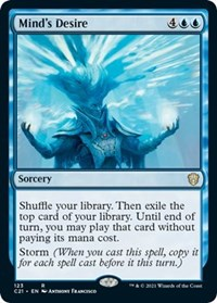 Mind's Desire, Magic: The Gathering, Commander 2021