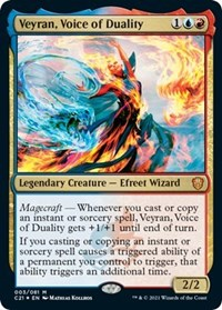 Veyran, Voice of Duality, Magic: The Gathering, Commander 2021