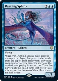 Dazzling Sphinx, Magic: The Gathering, Commander 2021