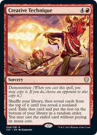 Creative Technique, Magic: The Gathering, Commander 2021