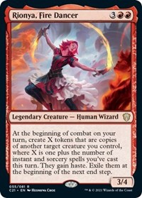 Rionya, Fire Dancer, Magic: The Gathering, Commander 2021