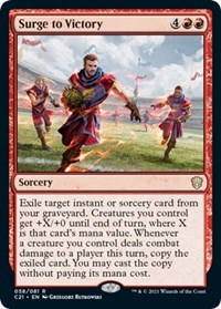 Surge to Victory, Magic: The Gathering, Commander 2021
