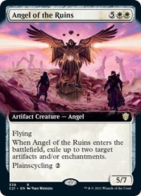 Angel of the Ruins (Extended Art), Magic: The Gathering, Commander 2021