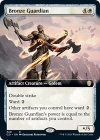 Bronze Guardian (Extended Art), Magic: The Gathering, Commander 2021